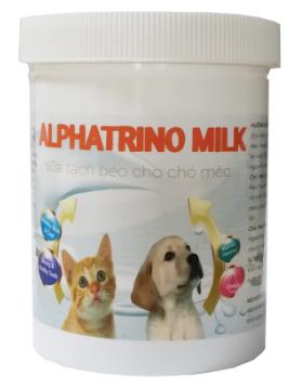 Sữa cho chó mèo tách béo Alphatrino Milk