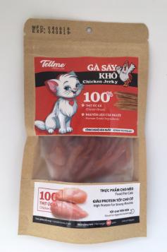Bánh thưởng Tellme gà sấy khô cho mèo